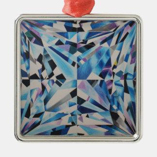 優れたガラスダイヤモンドの正方形のオーナメント メタルオーナメント