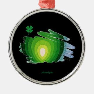 優れた円形のオーナメントの常緑樹のシャムロック メタルオーナメント