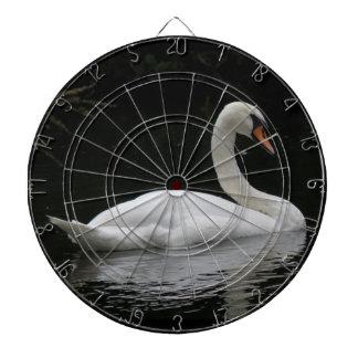 優美で白い白鳥の投げ矢板 ダーツボード