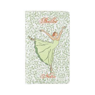 優美なバレリーナのダンス ラージMoleskineノートブック