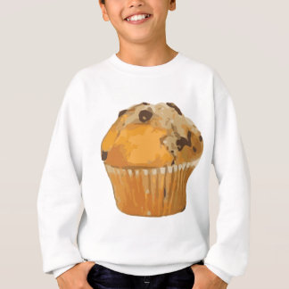優美なブルーベリーのマフィンのおいしいデザート スウェットシャツ