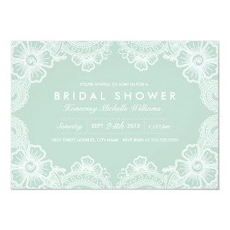 優美なレースのブライダルシャワーの招待状 カード