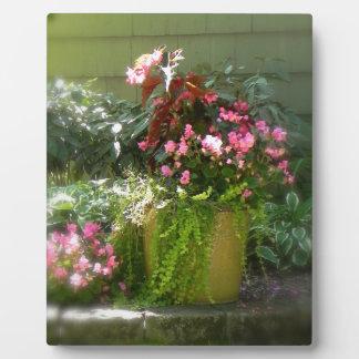 優美な庭プランター フォトプラーク
