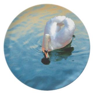 優美な白鳥 プレート