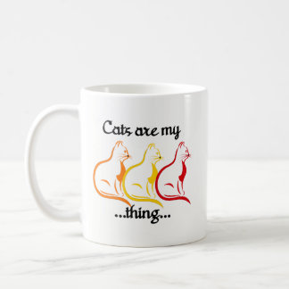 優美な着席猫ちゃん猫は私の事です コーヒーマグカップ