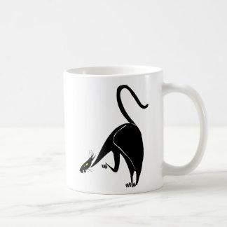 優美な黒猫のつきまとうこと コーヒーマグカップ