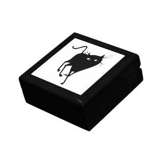 優美な黒猫の歩く ギフトボックス