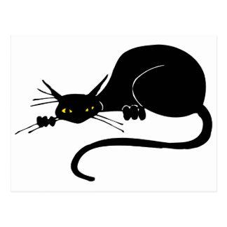 優美な黒猫 ポストカード