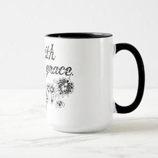 優美の花柄のマグによって行って下さい マグカップ
