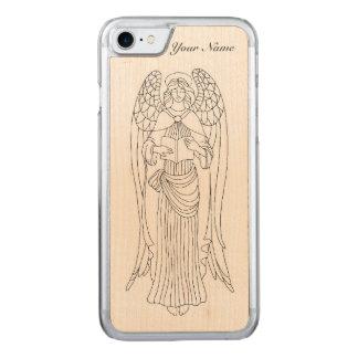 優美、Eleboratelyは読書天使のデザインを飾りました Carved iPhone 8/7 ケース