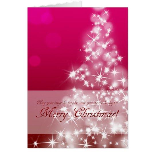 優雅でキラキラなクリスマスカード カード