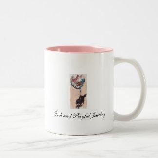 優雅で、よくはしゃぐな陶磁器のマグ ツートーンマグカップ