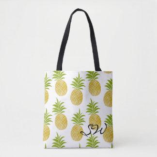 優雅なパイナップルモノグラムのなトート トートバッグ