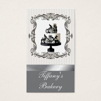優雅なブティックのベーカリーのウエディングケーキの名刺 名刺