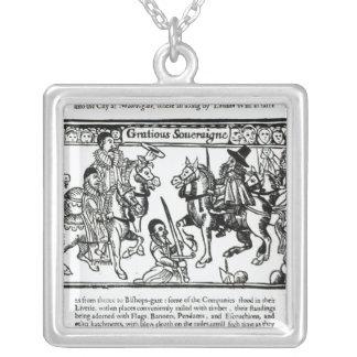 優雅な主権者、c.1631 シルバープレートネックレス