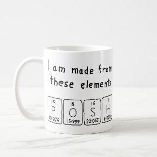 優雅な周期表の名前のマグ コーヒーマグカップ