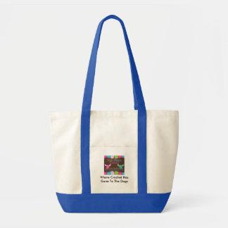 優雅な犬を持つ買い物袋の役人はロゴを設計します トートバッグ