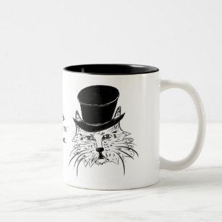 優雅な猫のマグ ツートーンマグカップ