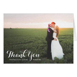 優雅に原稿がある写真の結婚式は の白感謝していしています ノートカード