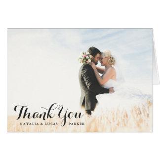 優雅に原稿がある写真の結婚式は の黒感謝していしています ノートカード