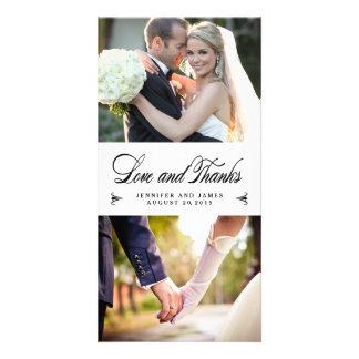 優雅のコラージュの結婚式は写真カード感謝していしています カード