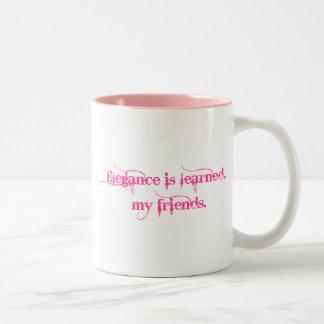 優雅はあります学びました… 私の友人 ツートーンマグカップ