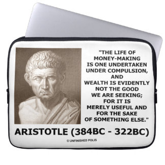 儲かる強制の富(アリストテレス)の生命 ラップトップスリーブ