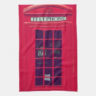 元のイギリスの電話箱 タオル