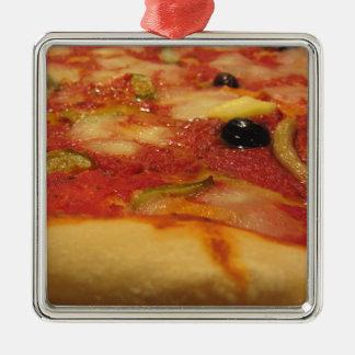 元のイタリアンなピザ メタルオーナメント