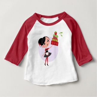 元のイラストレーションを含むTシャツをからかいます ベビーTシャツ