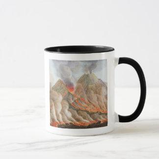 元のスケッチからのヴェスヴィオの噴火口 マグカップ