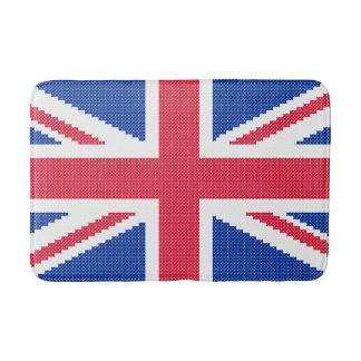 元のデザインの交差ステッチの英国国旗 バスマット