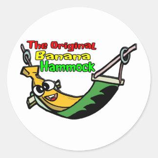 元のバナナのハンモック ラウンドシール