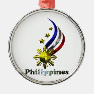 元のフィリピンのロゴ。 Mabuhay Pilipinas! メタルオーナメント