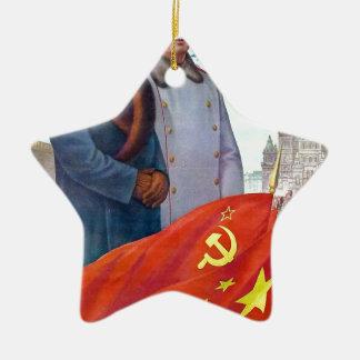 元のプロパガンダ毛沢東およびヨシフ・スターリン セラミックオーナメント