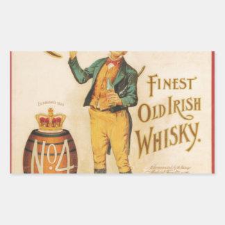 元のヴィンテージのCowanのアイルランドのウィスキーポスター 長方形シール