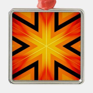 元の六角形のデザイン#6 メタルオーナメント