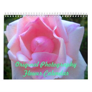 元の写真撮影の花のカレンダー カレンダー