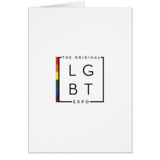 元の博覧会のロゴのLGBTのメッセージカード カード