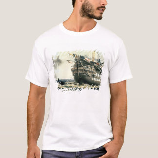 元の大西洋ケーブルを置くHMS Agamemnon Tシャツ