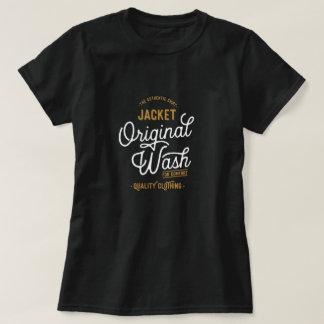 元の暗い洗浄タイポグラフィ Tシャツ