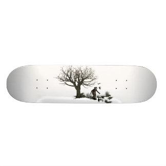 元の気球のピエロの古い木及び黒い鳥 18.1CM オールドスクールスケートボードデッキ