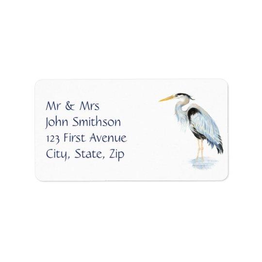 元の水彩画の素晴らしい青鷲の鳥 ラベル