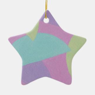 元の絵画からのデザイン 陶器製星型オーナメント