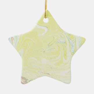 元の絵画からの抽象デザイン 陶器製星型オーナメント