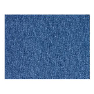 元の織布の青いファッションのジーンのデニム ポストカード