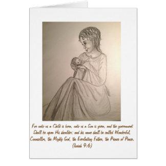 元の芸術のクリスマスカード: マドンナおよび子供 カード