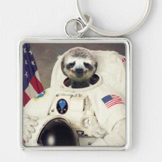 元の芸術の宇宙飛行士の怠惰Keychain キーホルダー