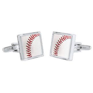 元の野球の球 銀色 カフリンク