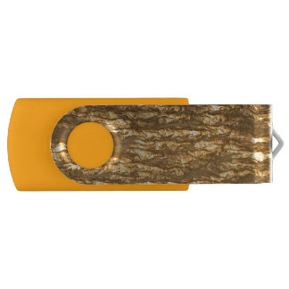 元の金ゴールドの日没の樹皮の質の芸術 USBフラッシュドライブ